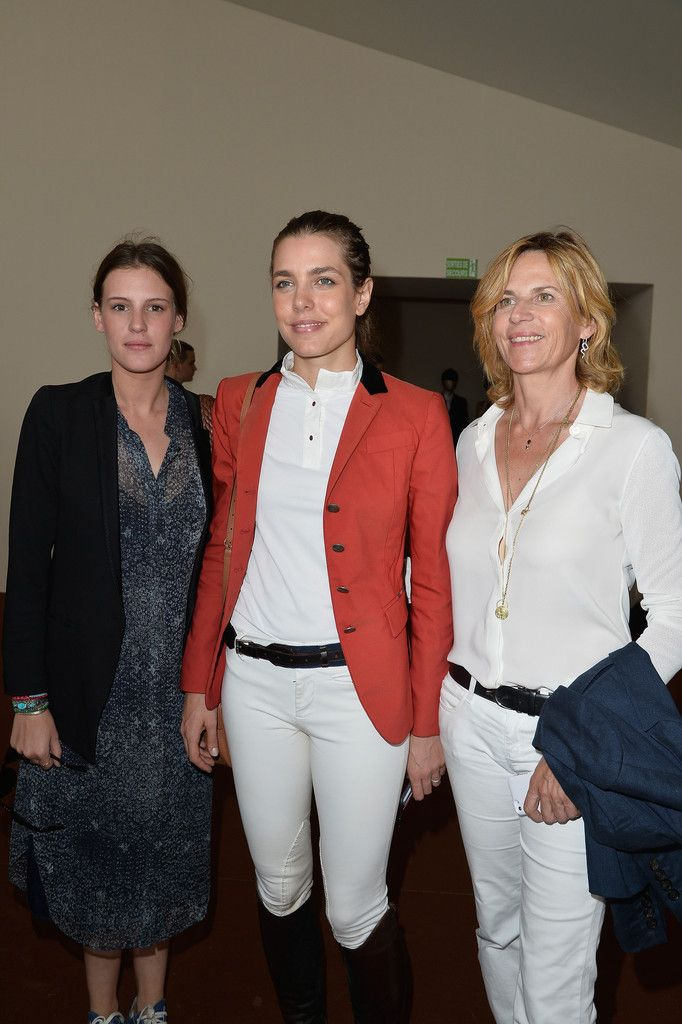 Juliette Maillot, Charlotte Casiraghi and Virginie Couperie-Eiffel attend the Paris Eiffel Jumping presented by Gucci at Champ-de-Mars on July 4, 2014 in Paris, France.
