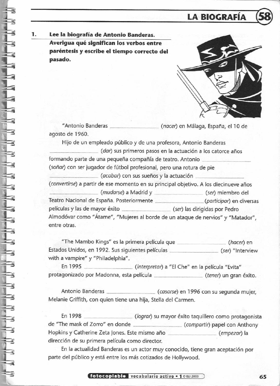 ISSUU - Vocabulario activo 1. Fichas con ejercicios fotocopiables ...
