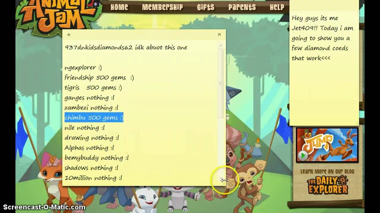 Animal jam codes for – Complete Working Cheat Codes For Diamonds And Gems. Hello peeps! Welcome to our website once again. Animal jam One of the most popular and trending games that is played all over the world is growing more popular day by day.