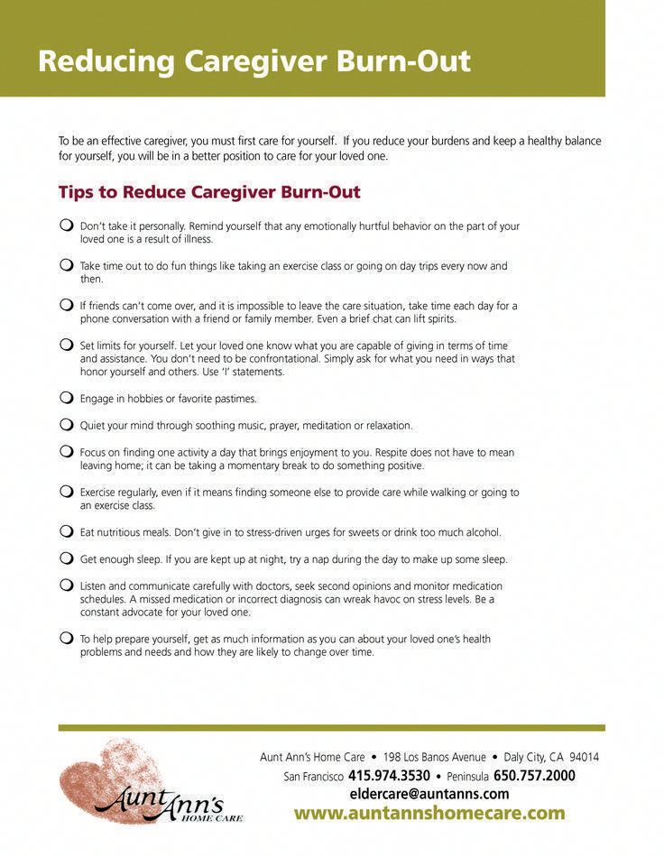 Reducing Caregiver BurnOut caregiving tips