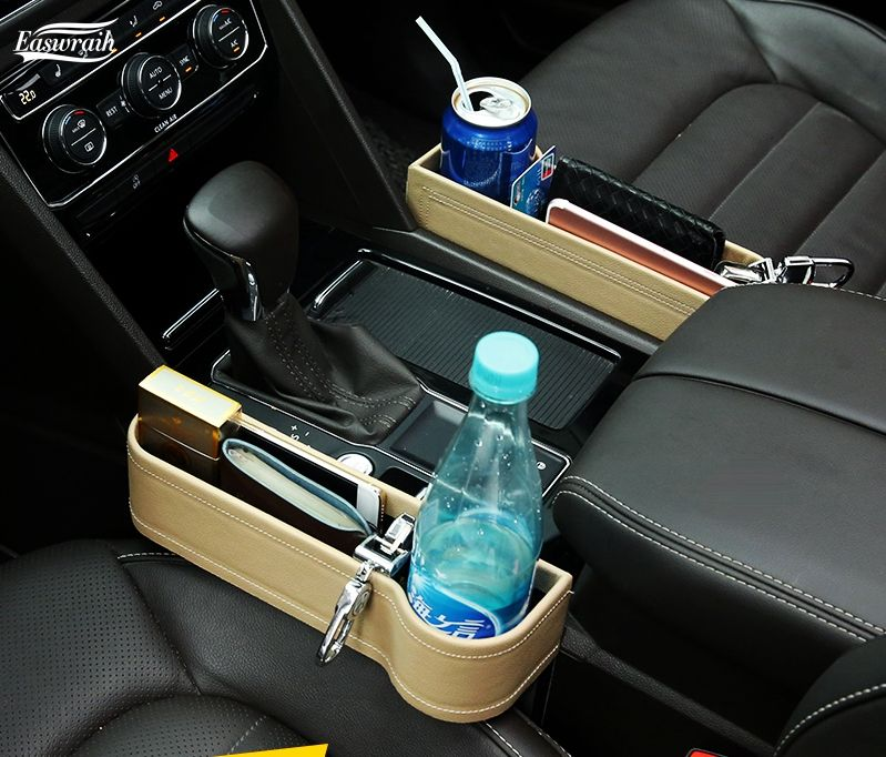 Car Seat Gap Pocket Catcher Organizer LeakProof Storage