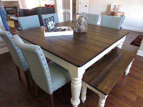 60 Square Farmhouse Table Made In Covington Tn Square Kitchen