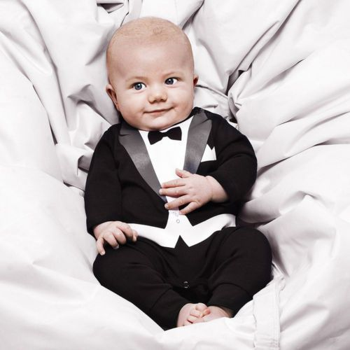 Kid Baby Boy Cotton Gentleman Romper Jumpsuit Bodysuit Clothes ... c27a93da3b6