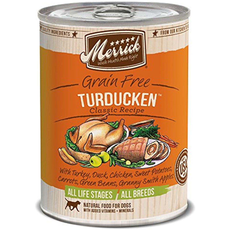 Merrick classic grain free turducken wet dog food 132 oz
