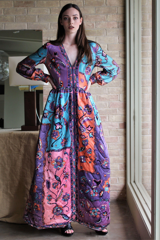 Long dress long sleeve women vintage s i magnin smallmedium