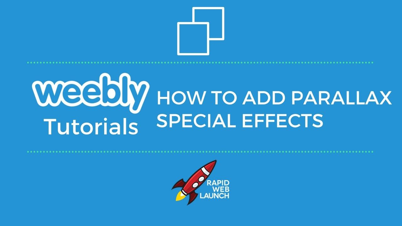 Weebly tutorial video youtube.
