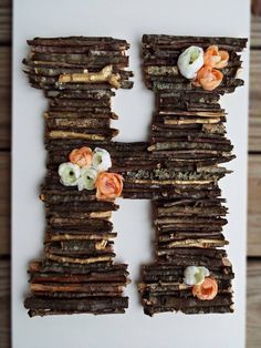 Woodland Baby Shower Decor, Rustic Stick Letter, Woodland Nursery Decor, Rustic Baby Shower, Boho Wedding Decor, Woodland Baby Gift 13.5