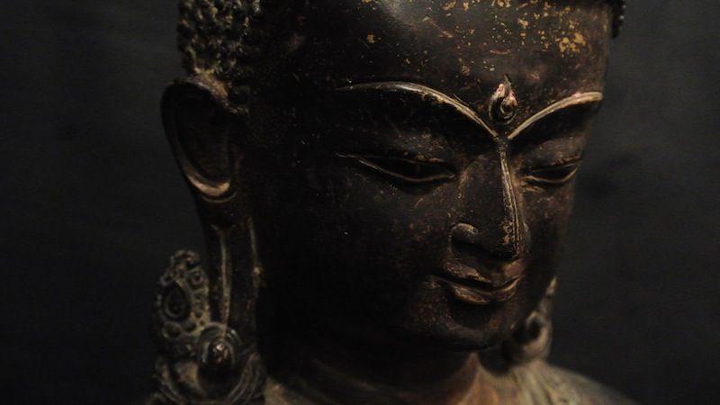 Mezzo busto raffigurante #Bhudda, bronzo XIX secolo, #Nepal. H: 22,5 cm www.arte-orientale.com