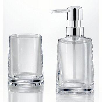 Clear and grey acrylic bath accessories.   Bathroom Accessories ...