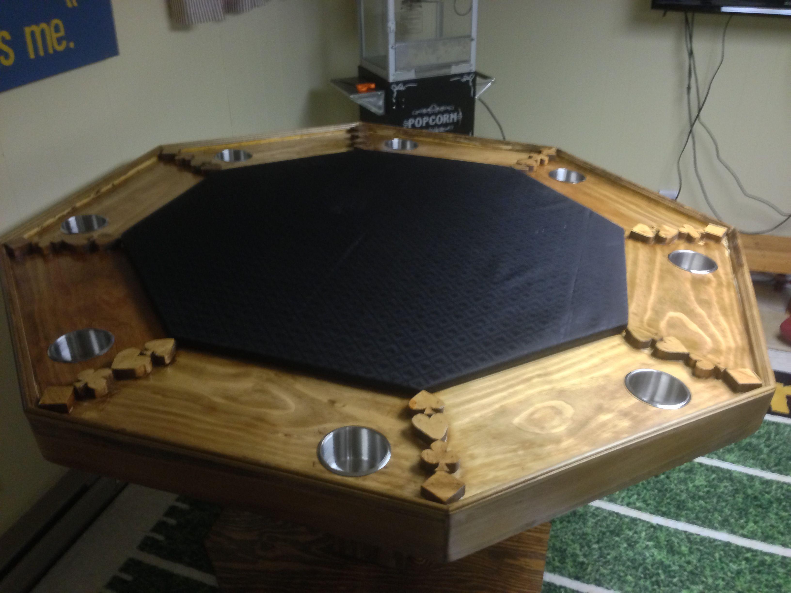 My poker table Poker table plans, Poker table diy, Poker