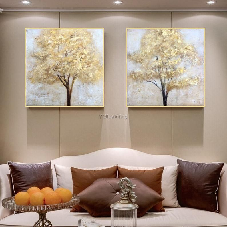 Gold Tree of life acrylic Paintings modern on canv