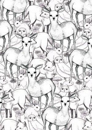 Critters in a pattern by Lydia Meiying #patterns #graphic #design