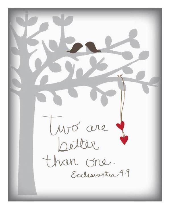 Wedding Gift Card Quotes: Two Are Better Than One...(Emily Burger)