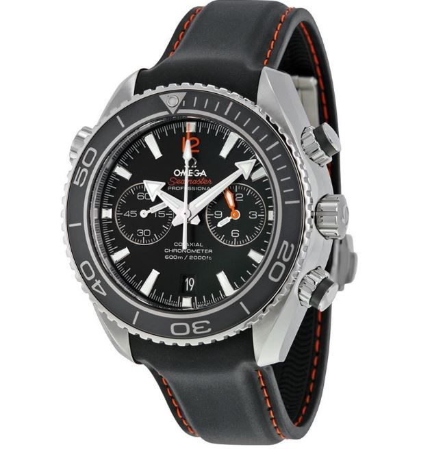 1e8e61f1c24 Omega Seamaster Planet Ocean 23232465101005 Automatic Black Dial Black  Rubber Band Men s Watch