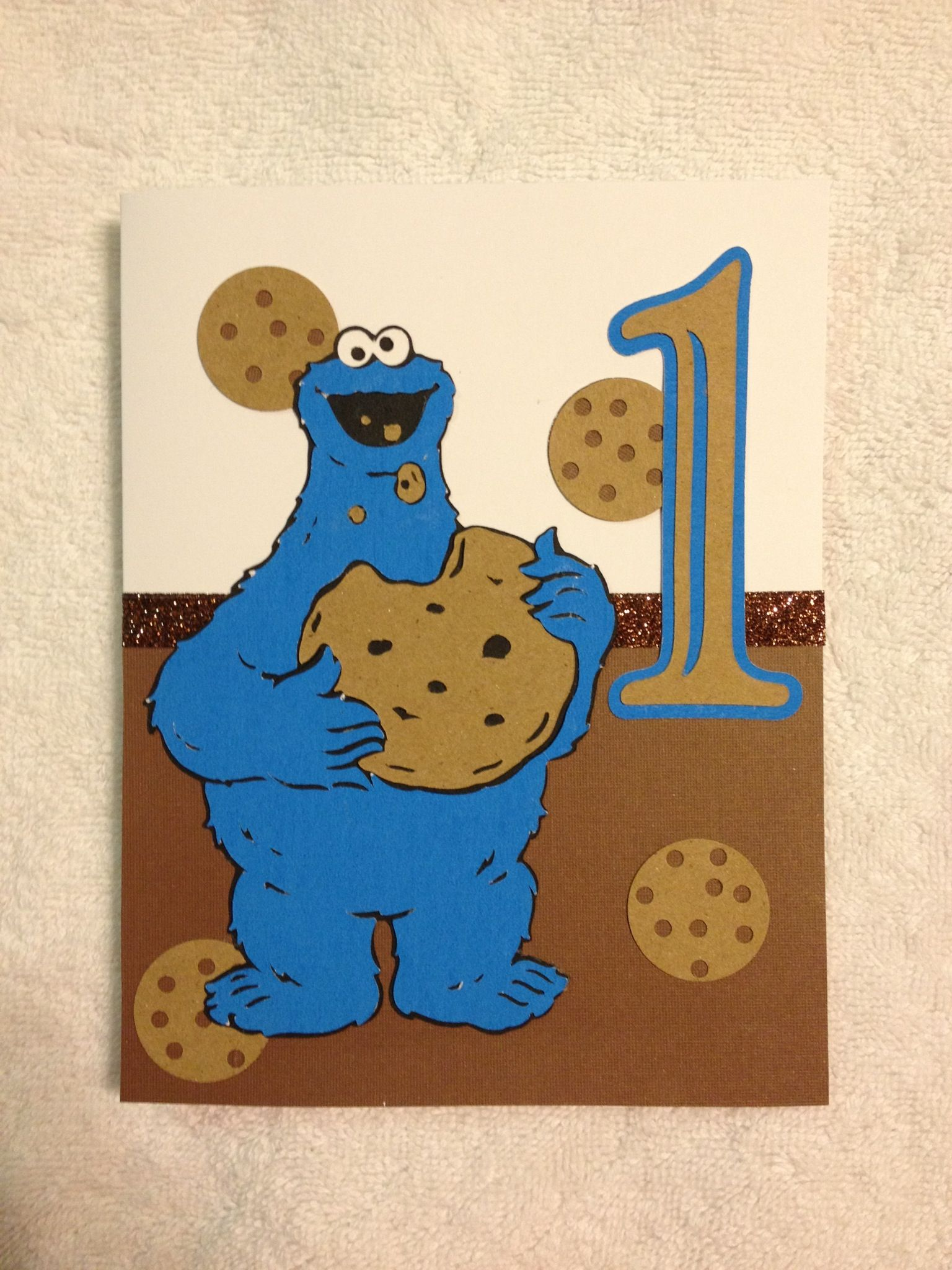 Cookie Monster 1st Birthday card. Made using the Sesame ...