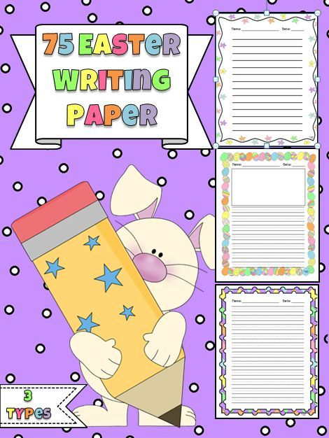 75 Easter Writing Paper Writing centers, Writing paper and - lined paper with drawing box