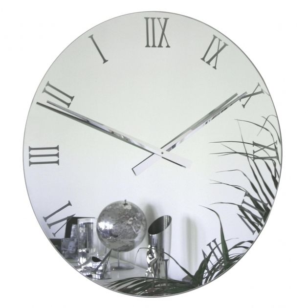 Inspiring Large Mirror Clock For Wall Extra Large Black ...