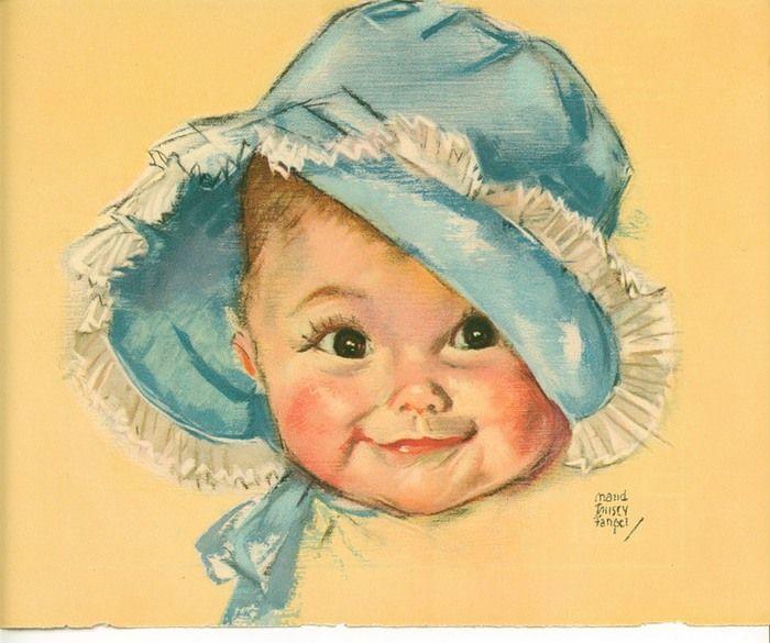 Картинка, ретро открытки малыш