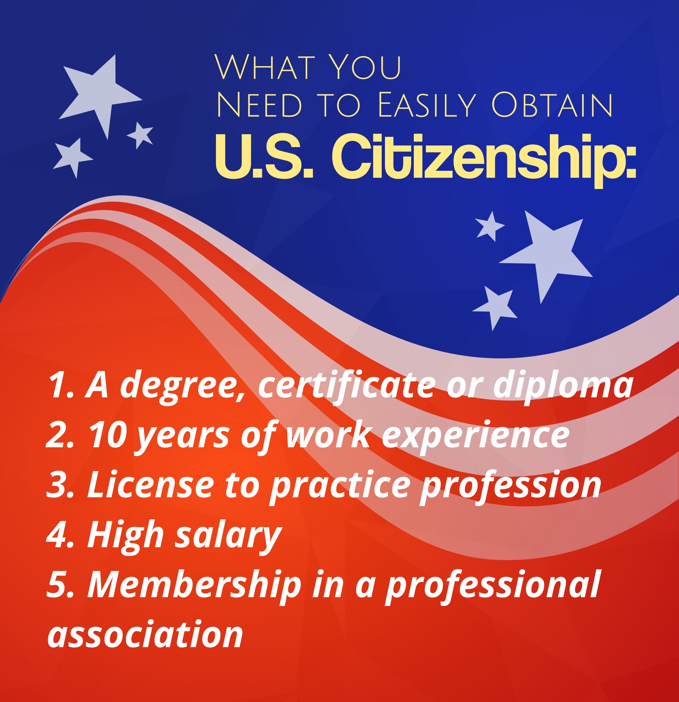 How to obtain US citizenship
