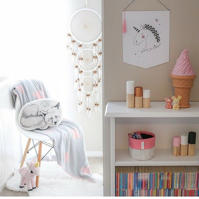 Love this beautiful photo styled by @whitefoxstyling featuring our very own Jess unicorn . We want everything in this gorgeous photo #ladedahkids #jessunicorn #crochet #kids #kidsroom