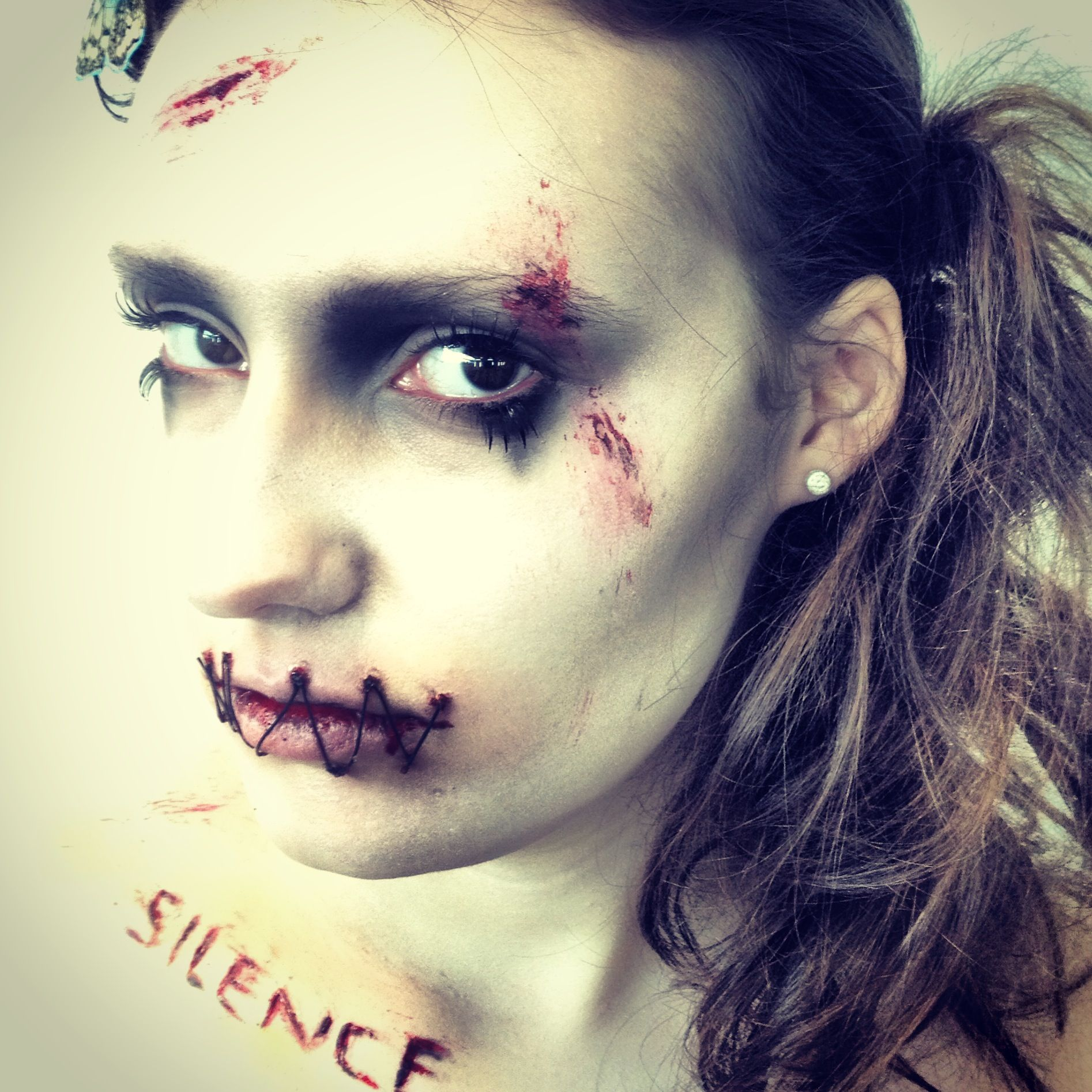 Horror Make-Up Work inspired by Silence of the Lambs Stitched Lips ...