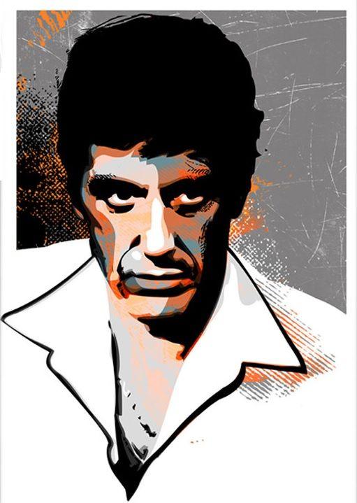 Scarface al pacino as tony montana gangstermovie - Scarface cartoon wallpaper ...
