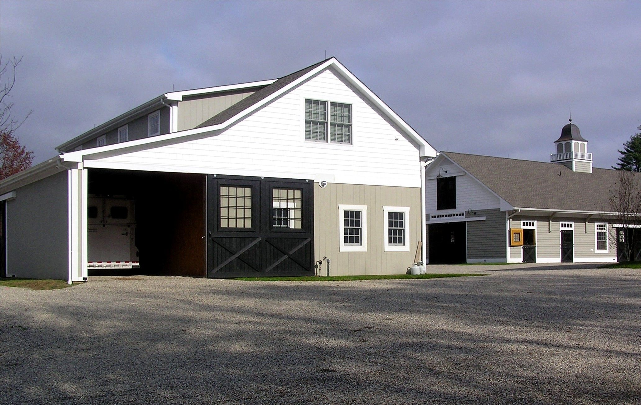 Garages With Trailer Storage By Kingbarns Com Barn Builders Garages Architecture