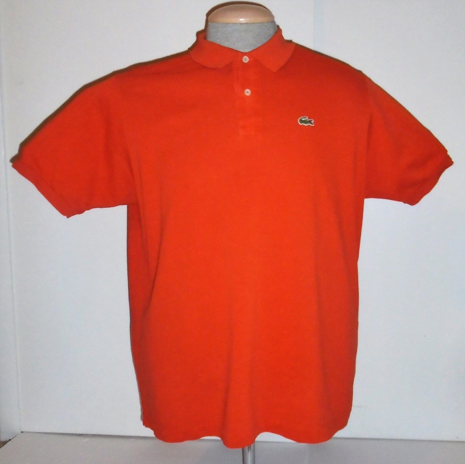 Vintage chemise lacoste made in france gator logo orange polo shirt vintage chemise lacoste made in france gator logo orange polo shirt mens 7 sciox Images