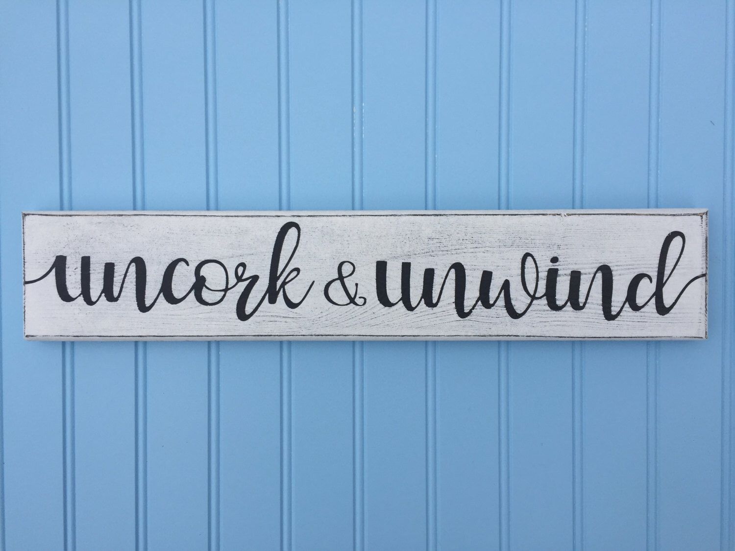 Housewarming Present For Friend Painted Uncork And Unwind Sign Best Friend Gift