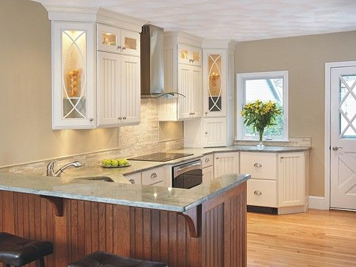 Kitchen Design With Peninsula lisa zompa kitchen #2 - peninsula with different colored wood