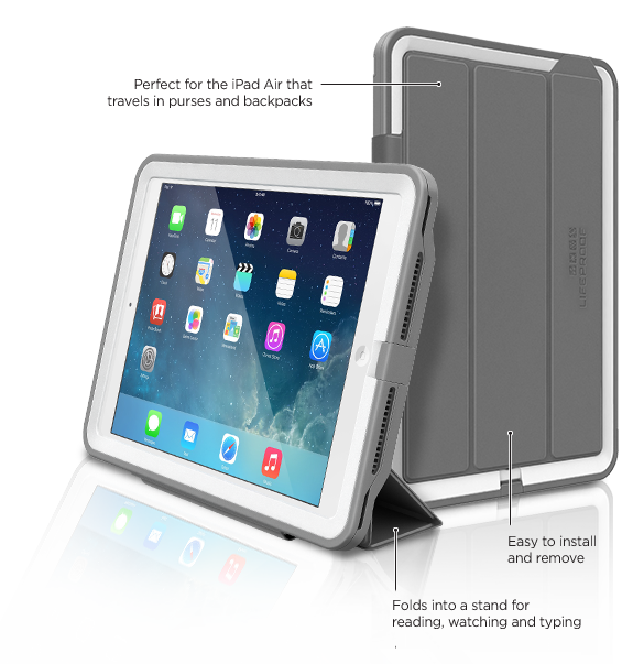 super popular 9bdf5 dd518 LifeProof iPad Air Cover + Stand. Want this for my air 2 when it's ...