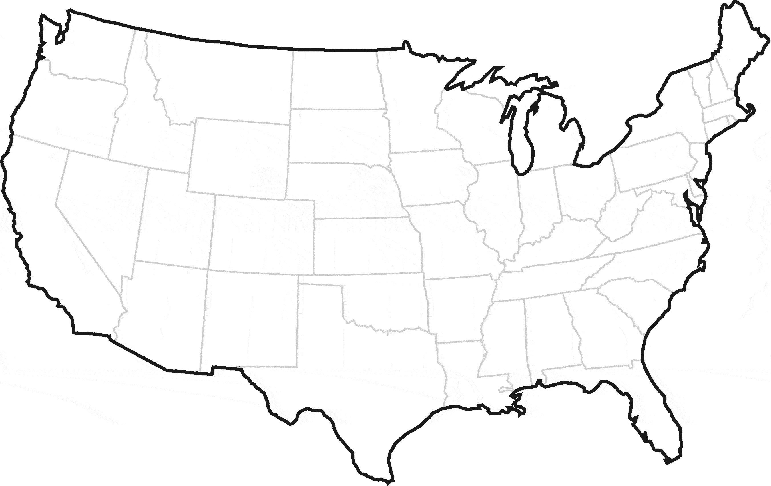 United states outline | United states outline, East coast ...