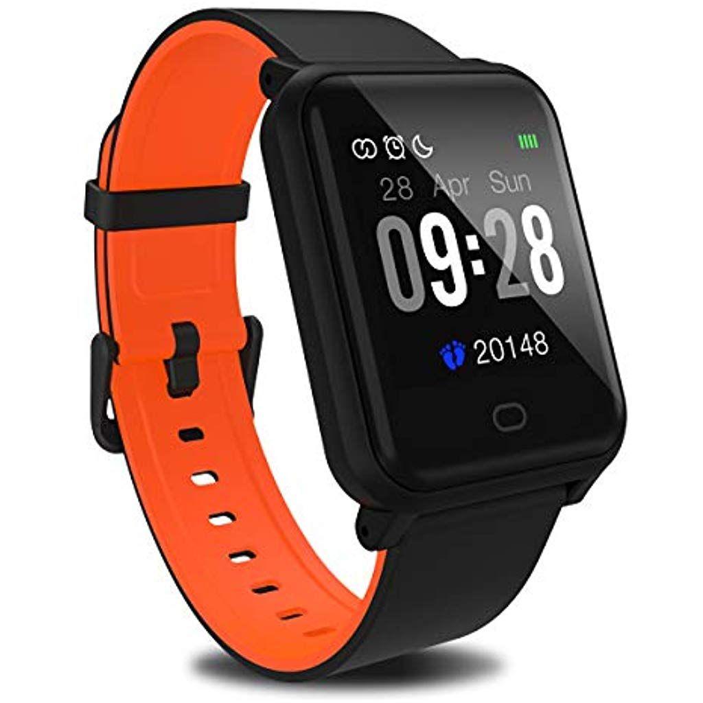 Fitpolo Fitness Uhr Schrittzahler Uhr 1 33 Zoll Farbbildschirm Fitness Armband Mit Pulsmesser Wasserdicht Uhr Aktivita Fitness Armband Schwarze Uhr Fitness Uhr