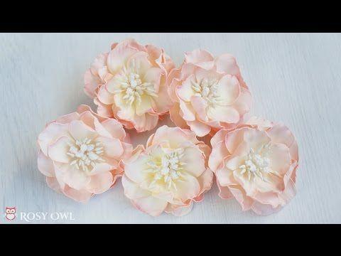 Foamiran Flower Tutorial With Rosy Dot Dies Kurs Na Kwiatek Z Foamiranu Youtube Flower Tutorial Foam Flowers Paper Flower Tutorial