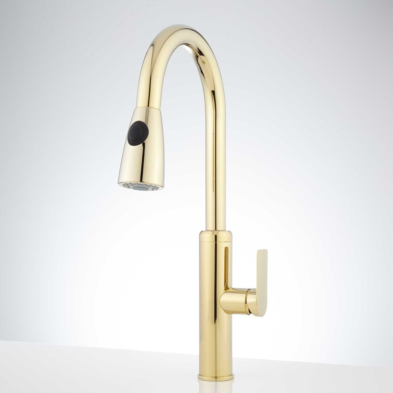 Kohler Polished Brass Kitchen Faucet Brass Kitchen Faucet Kitchen Faucet Kitchen Sink Taps