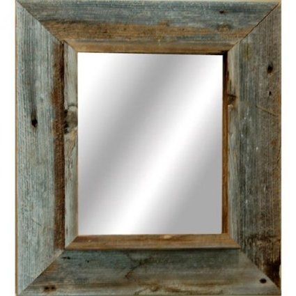 Amazon.com - Western Rustic Mirror - Reclaimed Barnwood - 24x30 ...