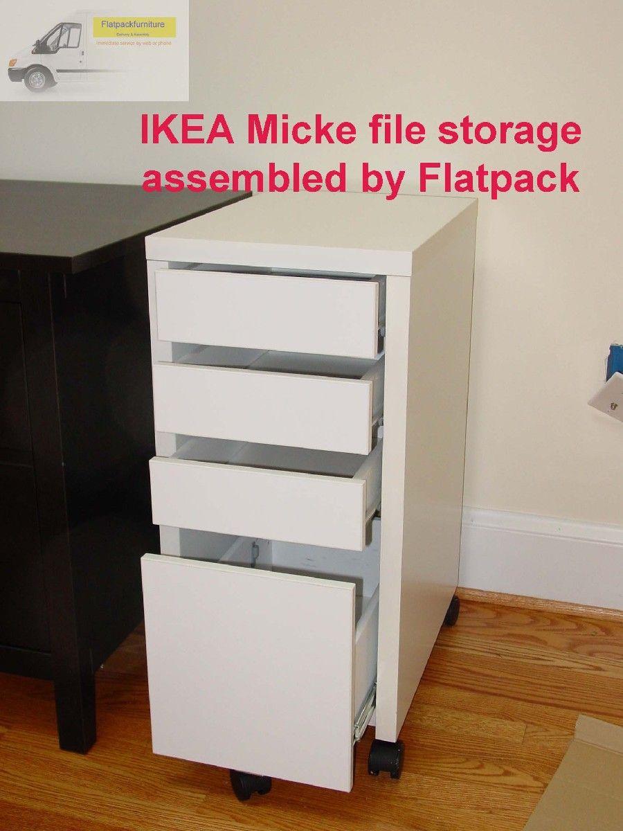 huge discount ab6e5 a800b IKEA Micke File storage cabinet Assembled by Flatpack ...