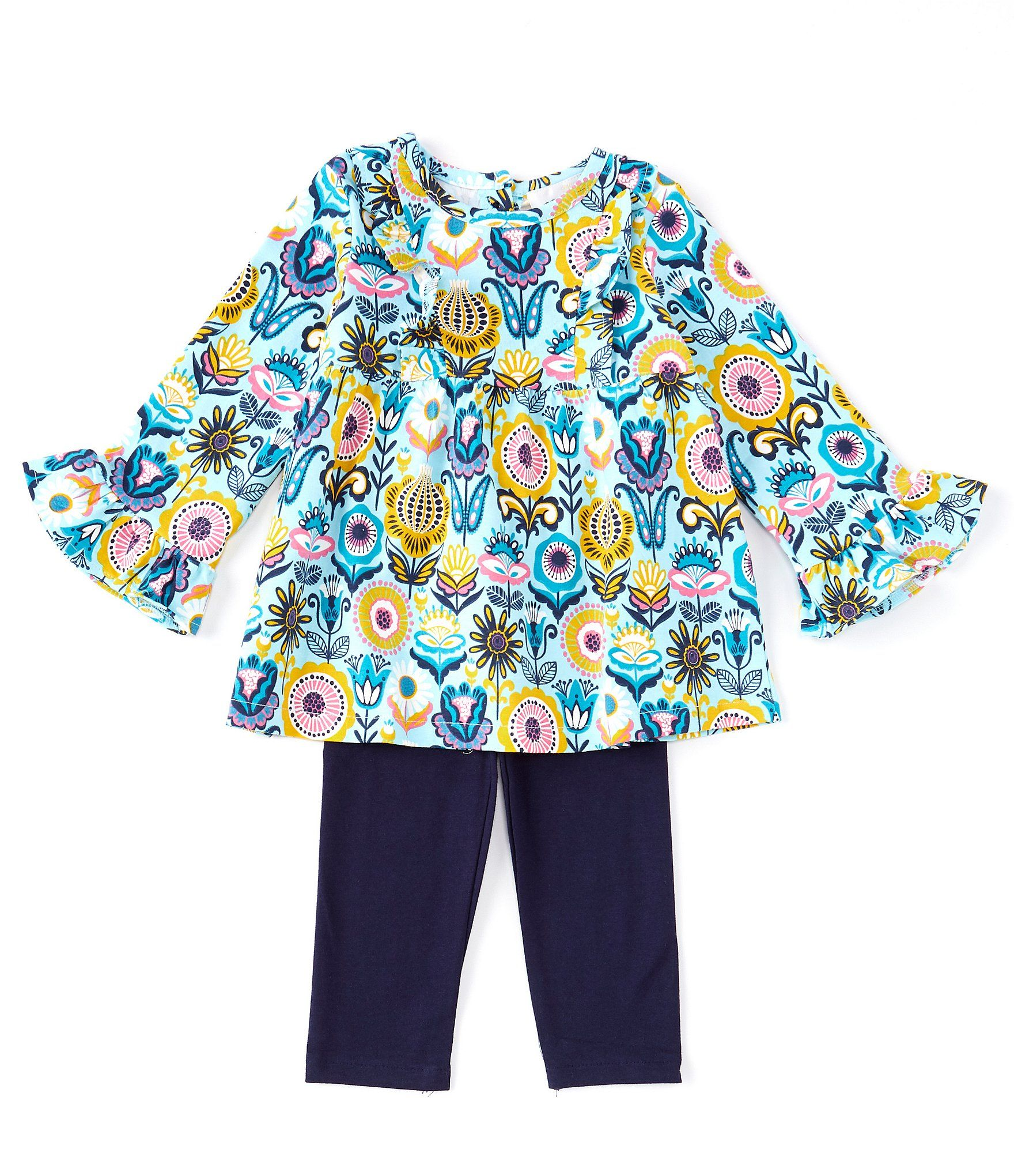 Pastourelle by Pippa /& Julie Girls Puff Sleeve Top and Legging Clothing Set
