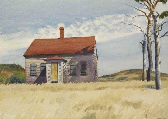 """Art Pics Channel on Twitter: """"Edward Hopper House with Dead Trees https://t.co/iPZ9z13eAT"""""""
