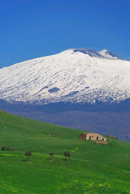 Mt. Etna - Sicily via   myfamouscastles.b... #etna