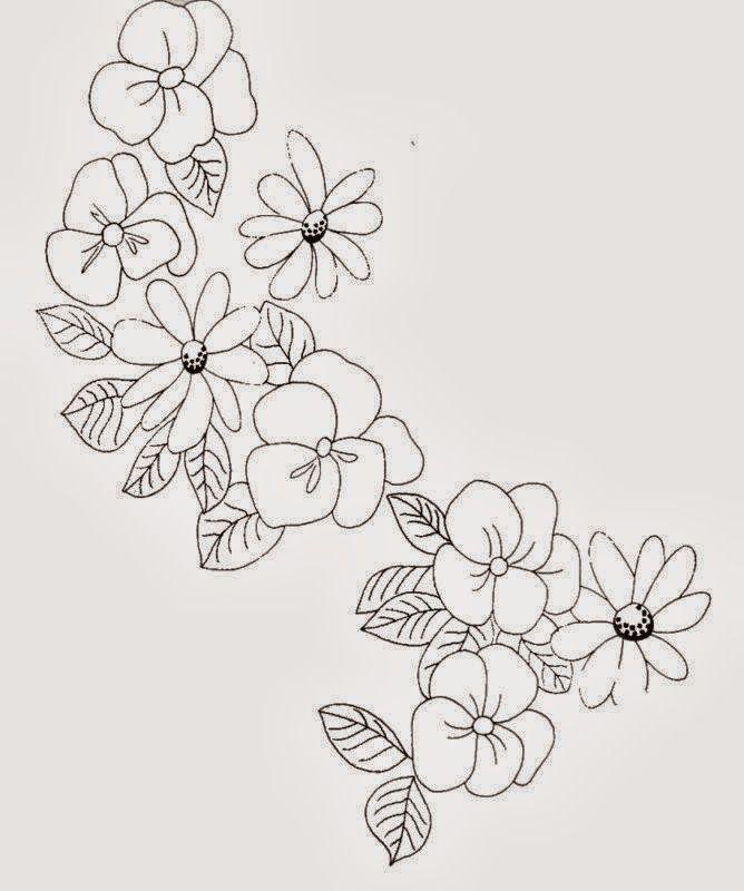 Imagenes para Bordar Ramas de Flores  Patrones para Bordados
