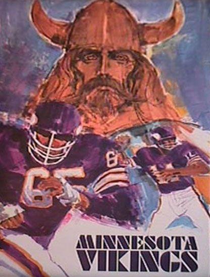 Minnesota Vikings Poster 1968 Minnesota Vikings Minnesota