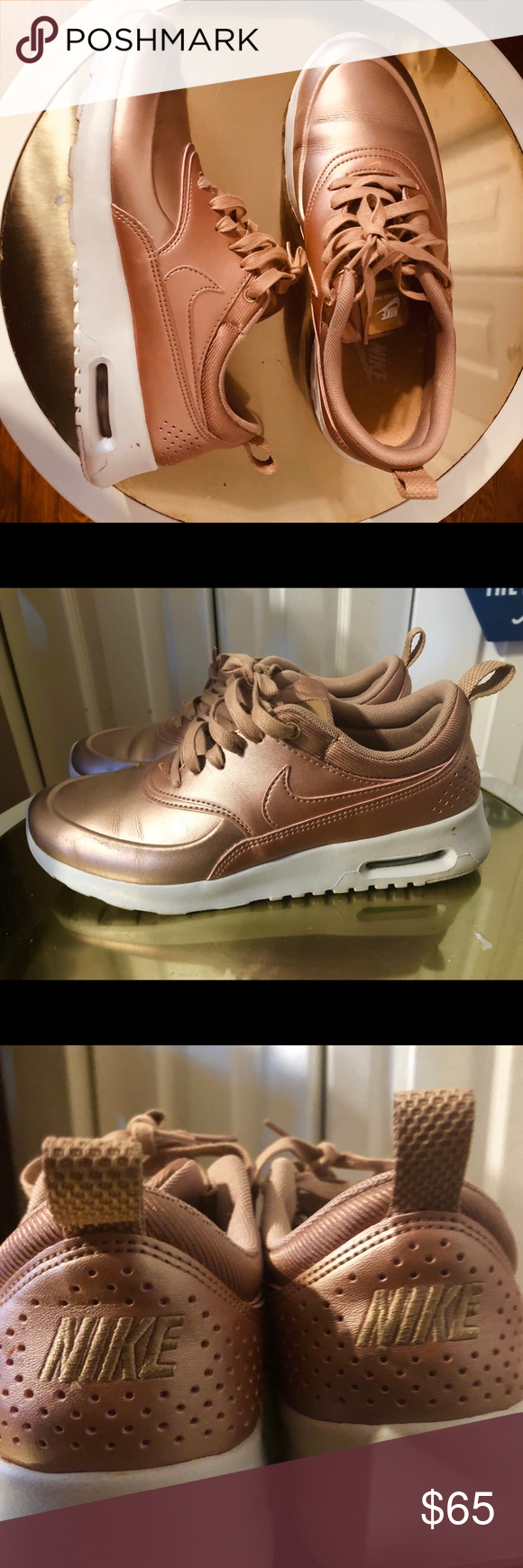 Nike Rose Gold Thea Air- Size 7 | Rose