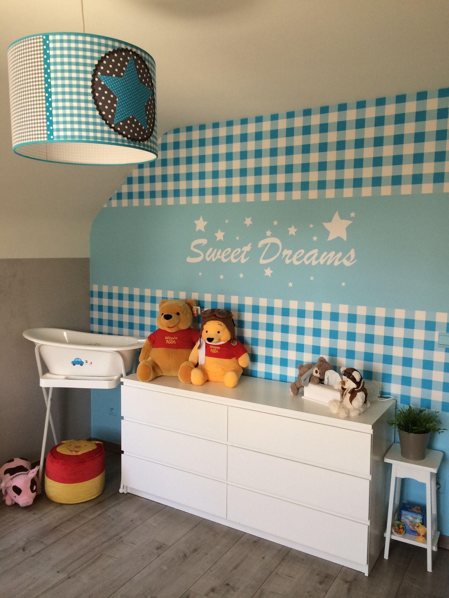 Kinderkamer. Accentmuur behang en muursticker | Slaapkamers kinderen ...