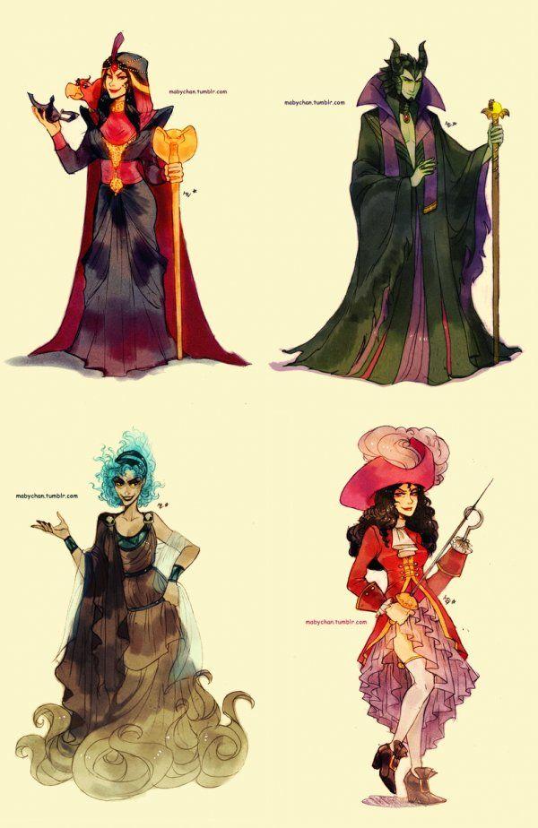 Genderbent Disney Villains By Maby Chan Villanos De Disney