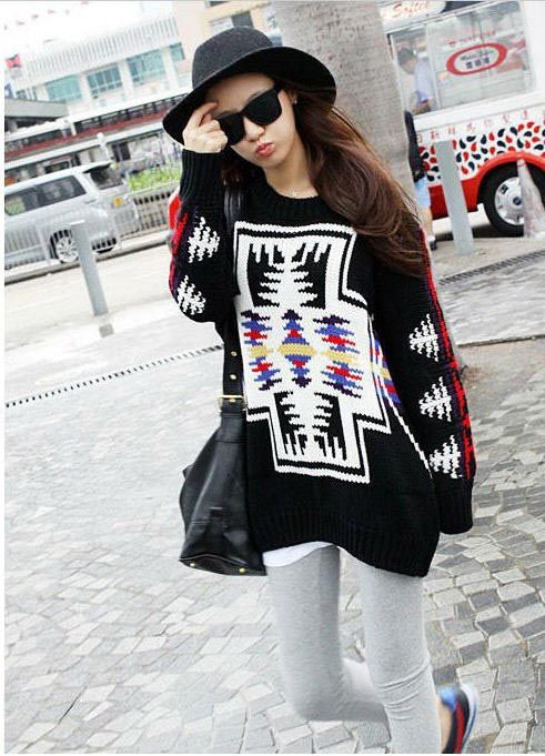 special Vogue Women Round Collar Loose Warm Pullover  Pullover from stylishplus.com