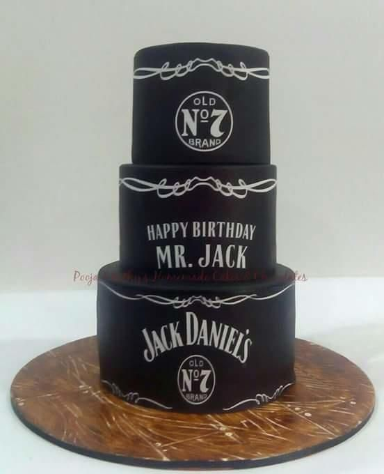 Happy birthday mr jack cake by chanda rozario cake for Pochoir jack daniels