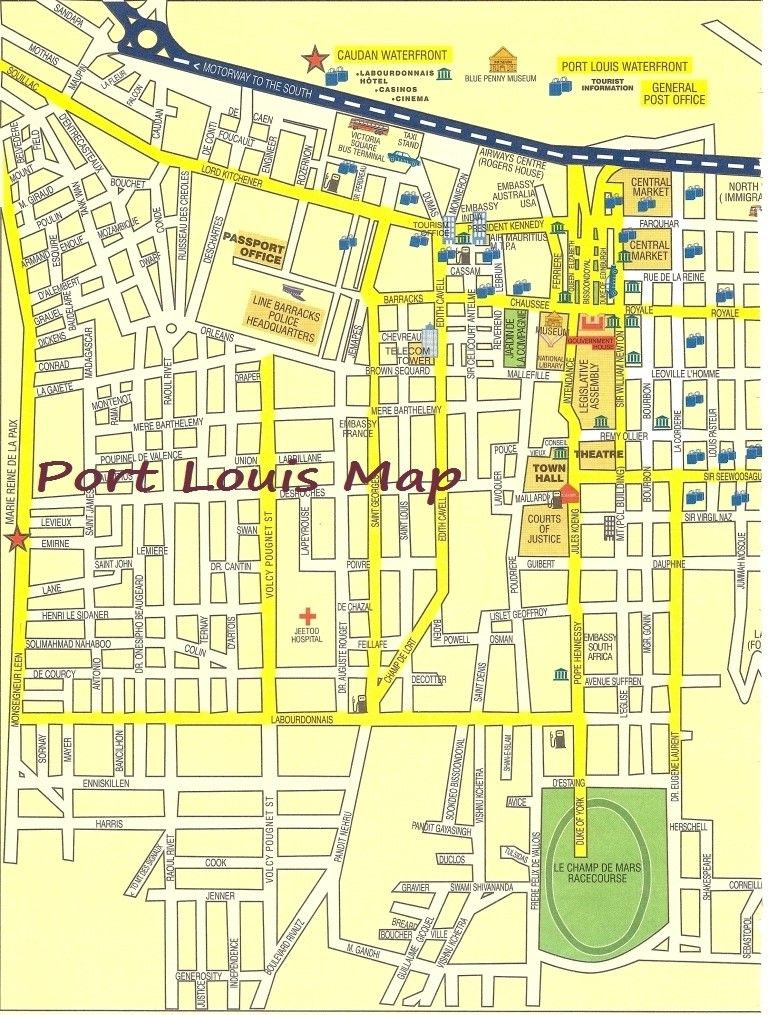 Port Louis Mauritius Map Port Louis (Mauritius Island) cruise port map (printable