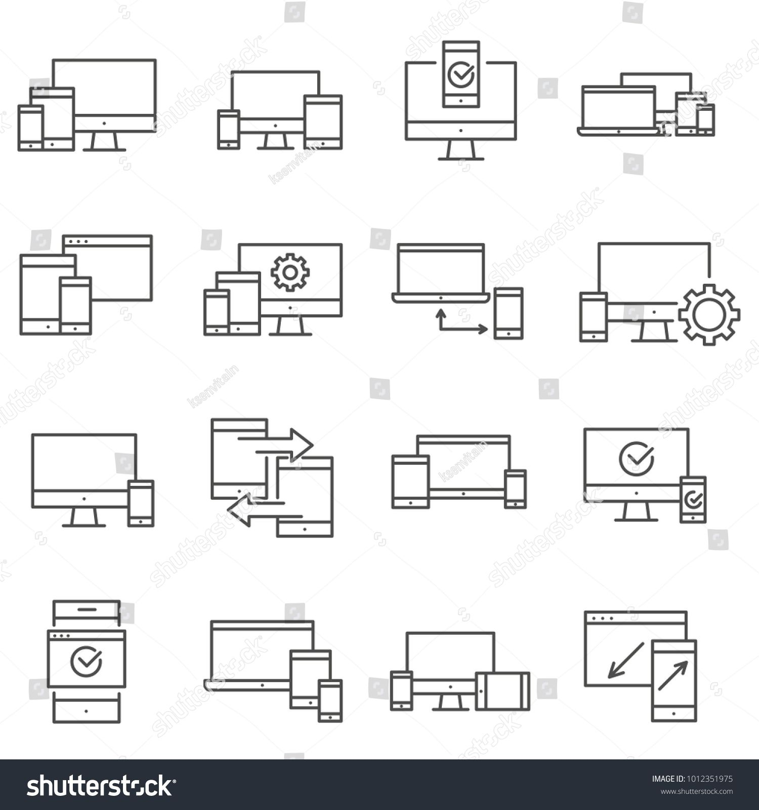 Simple Set of Responsive Related Vector Line Icons