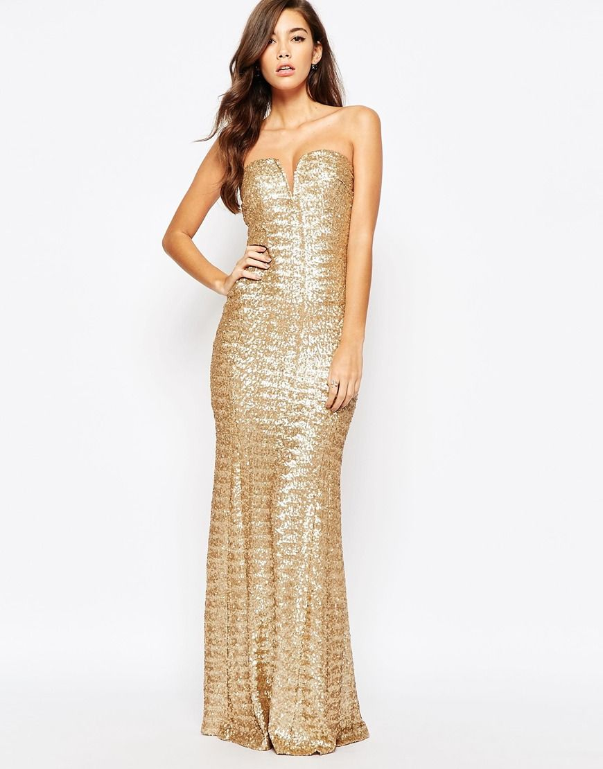 7738fe7c94 Image 4 of TFNC Showstopper Sequin Maxi Dress